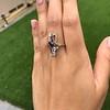 1.40ctw Art Nouveau Sapphire and Diamond Ring 9