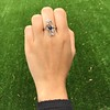 1.40ctw Art Nouveau Sapphire and Diamond Ring 18