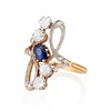 1.40ctw Art Nouveau Sapphire and Diamond Ring 1