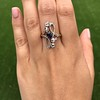 1.40ctw Art Nouveau Sapphire and Diamond Ring 8