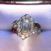 1.42ctw Emerald Cut and Ruby Art Deco Fancy Ring 17