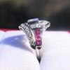 1.42ctw Emerald Cut and Ruby Art Deco Fancy Ring 15
