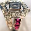 1.42ctw Emerald Cut and Ruby Art Deco Fancy Ring 25