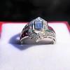 1.42ctw Emerald Cut and Ruby Art Deco Fancy Ring 13