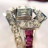 1.42ctw Emerald Cut and Ruby Art Deco Fancy Ring 22