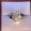 1.42ctw Emerald Cut and Ruby Art Deco Fancy Ring 6