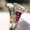 1.42ctw Emerald Cut and Ruby Art Deco Fancy Ring 21