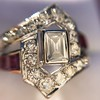 1.42ctw Emerald Cut and Ruby Art Deco Fancy Ring 19