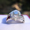 1.42ctw Emerald Cut and Ruby Art Deco Fancy Ring 24