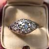 1.47ctw Old European Cut Diamond, Orange Blossom Solitaire 5