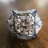 1.47ct Transitional Cut Diamond Art Deco Frame Ring 12