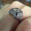 1.47ct Transitional Cut Diamond Art Deco Frame Ring 4