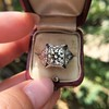 1.47ct Transitional Cut Diamond Art Deco Frame Ring 29