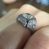 1.47ct Transitional Cut Diamond Art Deco Frame Ring 28