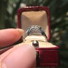 1.47ct Transitional Cut Diamond Art Deco Frame Ring 25