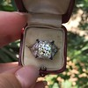 1.47ct Transitional Cut Diamond Art Deco Frame Ring 30