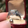 1.47ct Transitional Cut Diamond Art Deco Frame Ring 3