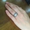 1.47ct Transitional Cut Diamond Art Deco Frame Ring 22