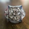 1.47ct Transitional Cut Diamond Art Deco Frame Ring 16