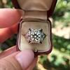 1.47ct Transitional Cut Diamond Art Deco Frame Ring 13