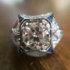 1.47ct Transitional Cut Diamond Art Deco Frame Ring 9