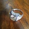 1.47ct Transitional Cut Diamond Art Deco Frame Ring 24