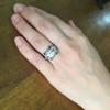 1.47ct Transitional Cut Diamond Art Deco Frame Ring 21
