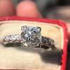 1.48ctw Antique Old European Cut Diamond Ring 9