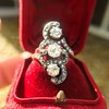 1.50ctw Fancy Victorian Trilogy Old Mine Cut Ring 28