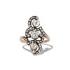 1.50ctw Fancy Victorian Trilogy Old Mine Cut Ring 1