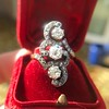 1.50ctw Fancy Victorian Trilogy Old Mine Cut Ring 22