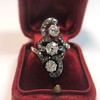 1.50ctw Fancy Victorian Trilogy Old Mine Cut Ring 29