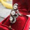 1.50ctw Fancy Victorian Trilogy Old Mine Cut Ring 19