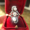 1.50ctw Fancy Victorian Trilogy Old Mine Cut Ring 5