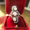 1.50ctw Fancy Victorian Trilogy Old Mine Cut Ring 24