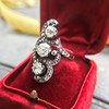 1.50ctw Fancy Victorian Trilogy Old Mine Cut Ring 9