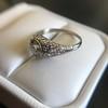 1.56ctw Art Deco Old European Cut Diamond Bezel Ring, GIA E SI1 6