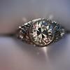 1.56ctw Art Deco Old European Cut Diamond Bezel Ring, GIA E SI1 31