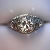 1.56ctw Art Deco Old European Cut Diamond Bezel Ring, GIA E SI1 28