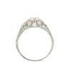 1.56ctw Art Deco Old European Cut Diamond Bezel Ring, GIA E SI1 2