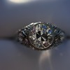 1.56ctw Art Deco Old European Cut Diamond Bezel Ring, GIA E SI1 24