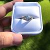 1.56ctw Art Deco Old European Cut Diamond Bezel Ring, GIA E SI1 5