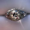 1.56ctw Art Deco Old European Cut Diamond Bezel Ring, GIA E SI1 30