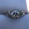 1.56ctw Art Deco Old European Cut Diamond Bezel Ring, GIA E SI1 22
