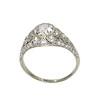 1.56ctw Art Deco Old European Cut Diamond Bezel Ring, GIA E SI1 3
