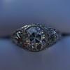 1.56ctw Art Deco Old European Cut Diamond Bezel Ring, GIA E SI1 34