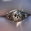 1.56ctw Art Deco Old European Cut Diamond Bezel Ring, GIA E SI1 32