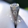 1.56ctw Art Deco Old European Cut Diamond Bezel Ring, GIA E SI1 7