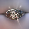 1.56ctw Art Deco Old European Cut Diamond Bezel Ring, GIA E SI1 27