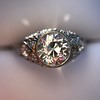 1.56ctw Art Deco Old European Cut Diamond Bezel Ring, GIA E SI1 4